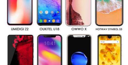 Monet valmistajat ovat kopioineet näyttölovi-idean Applen julkaistua iPhone X:n.