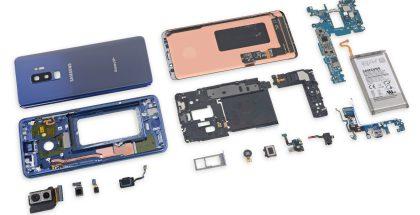 Samsung Galaxy S9 purettuna. Kuva: iFixit.