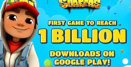 Subway Surfers ylitti 1 miljardin Google Play -latauksen rajan.