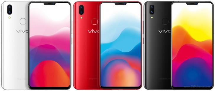 Vivo X21 -perusmallissa sormenjälkilukija löytyy takaa.
