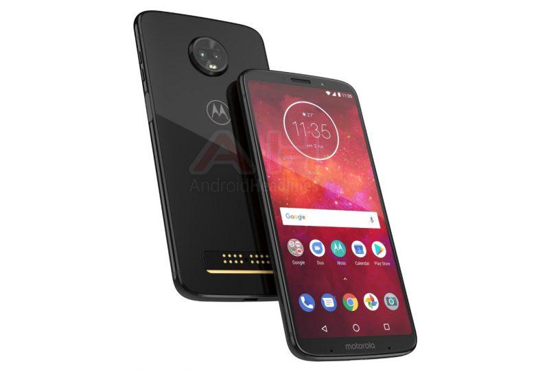 Aiempi vuotokuva Motorola Z3 Play -älypuhelimesta.