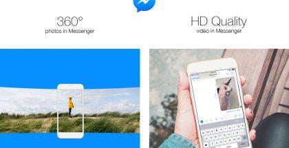 Facebook Messenger saa päivityksessä tuen 360-kuville ja HD-videolle.