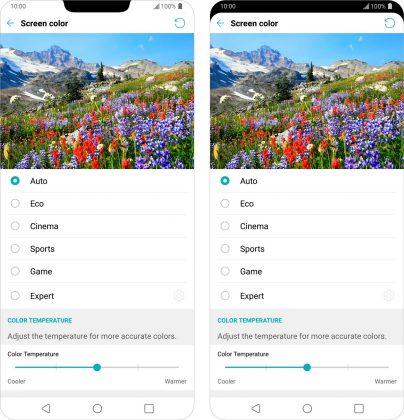 LG G7 ThinQ -puhelimessa näyttöloven voi halutessaan piilottaa.