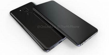 LG G7:n design OnLeaksin vuotamassa mallikuvassa.