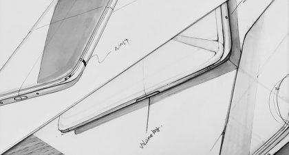 Hahmotelmia uuden OnePlus 6 -puhelimen designista.