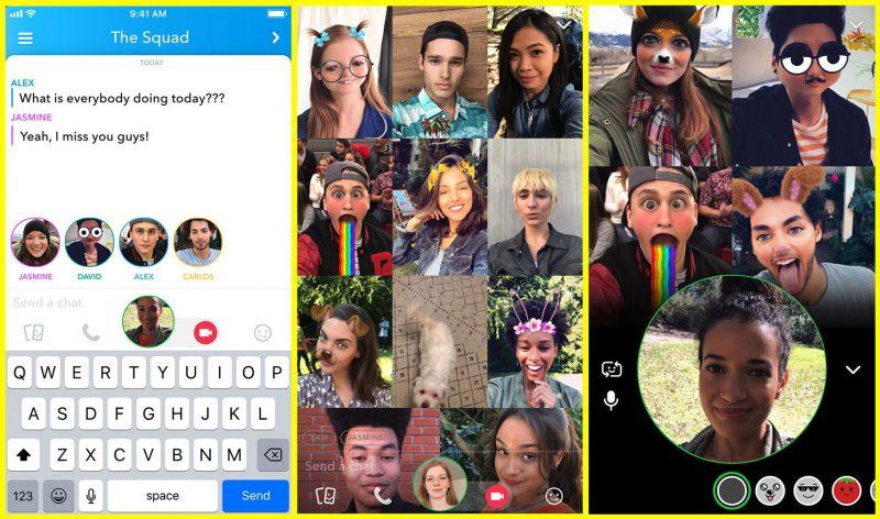 Ryhmävideopuhelut tulevat osaksi Snapchatia.