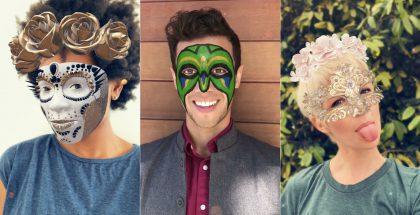 Facebookin uusia maskeja iPhone X:llä.