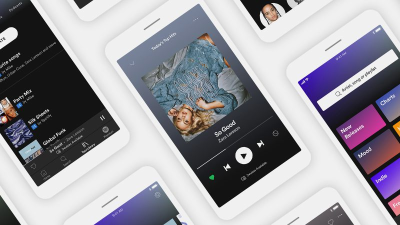 Spotifyn uudistunut mobiilisovellus.