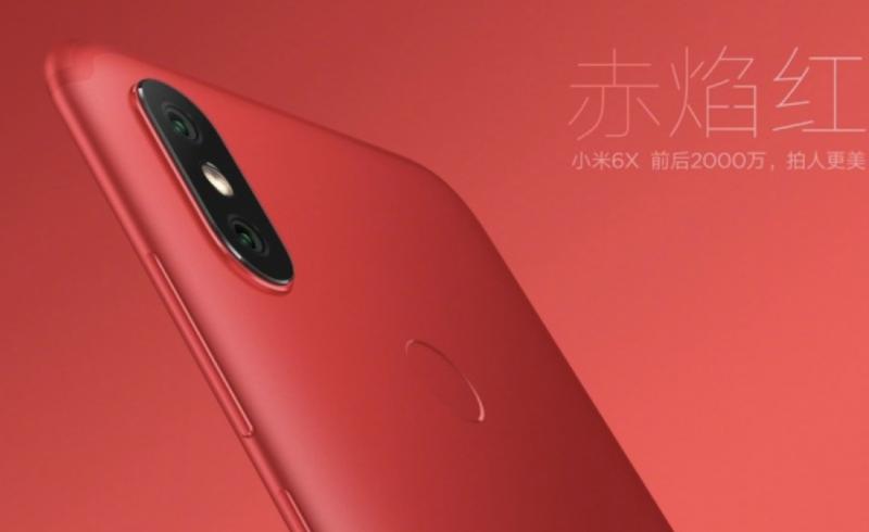 Xiaomi Mi 6X:n kaksoiskamera on asemoitu iPhone X:ää muistuttavalla tavalla.