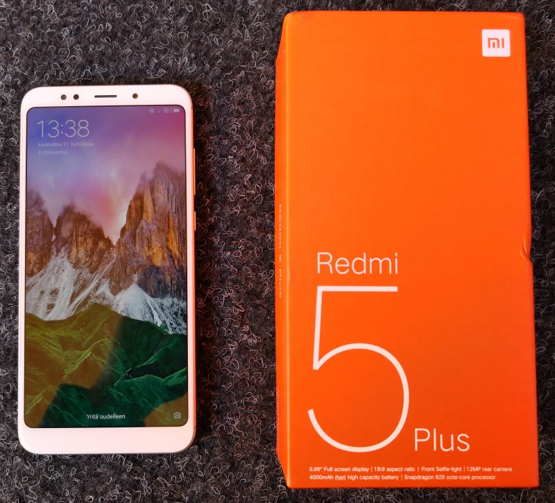Xiaomi Redmi 5 Plus.