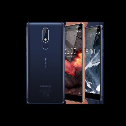 Nokia 5.1 on yksi kuluvan vuoden Nokia-älypuhelinuutuuksia.