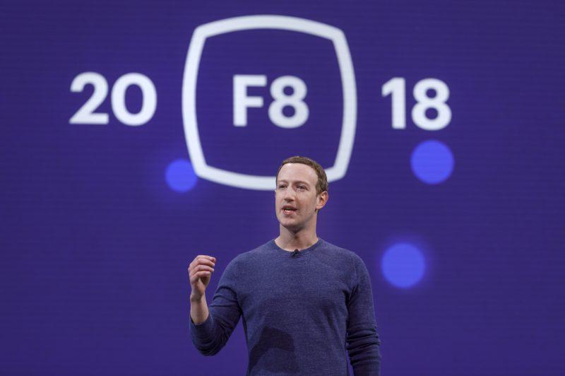 Facebookin perustaja ja toimitusjohtaja Mark Zuckerberg yhtiön F8-kehittäjäkonferenssissa.