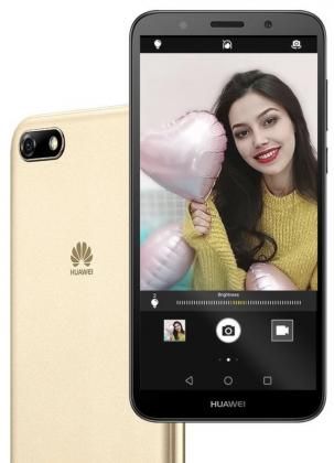 Huawei Y5 Prime 2018:n takakamera-alue on muotoiltu hieman kaksoiskameran muotoisesti, mutta sisältää vain yhden kameran.