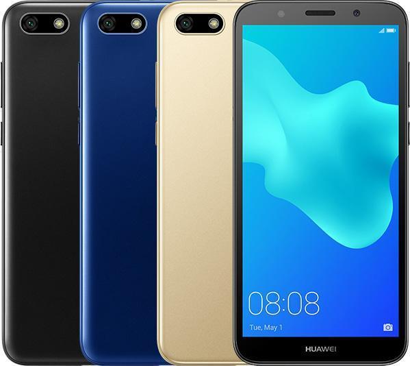 Huawei Y5 Prime 2018:n värivaihtoehdot.