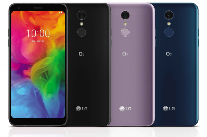 LG Q7:n värivaihtoehdot.