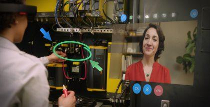 Remote Assist -sovellus HoloLensille mahdollistaa etäavun videopuhelun välityksellä.
