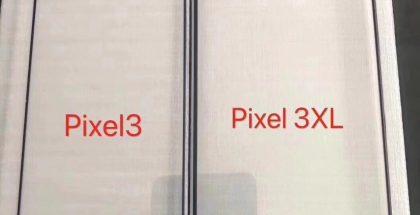 Väitetyt Pixel 3:n ja Pixel 3 XL:n etupaneelit.