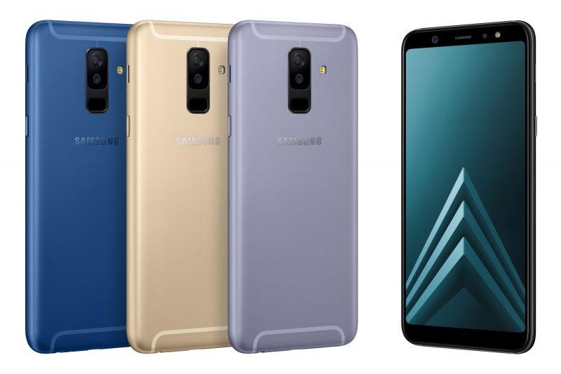 Samsung Galaxy A6+:ssa on kaksi takakameraa.