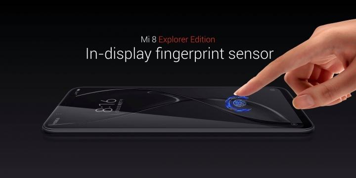Mi 8:n Explorer Edition -erikoisversiossa on sekä edistyneempi 3D-kasvojentunnistus että näyttöön integroitu sormenjälkilukija.