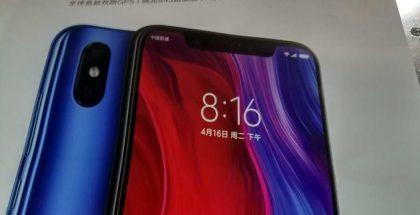 Vuotanut kuva Xiaomin Mi 8 -julisteesta.