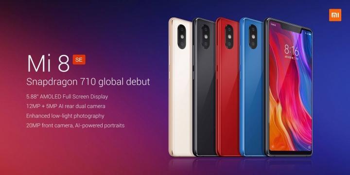 Xiaomi Mi 8 SE on pienempi ja edullisempi vaihtoehto.