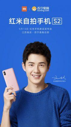 Xiaomi vahvisti jo tällä kuvalla Redmi S2 -julkistuksen 10. toukokuuta.