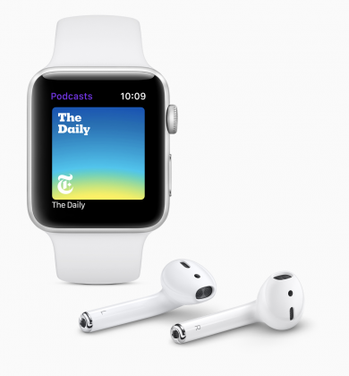 Podcastit tulee sovelluksena syksyllä myös Apple Watchille.