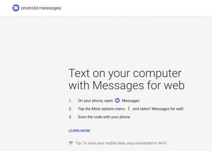 Android Messages for Web -sivusto on avautunut jo.