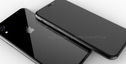 6,1 tuuman iPhone-mallin design OnLeaksin yhdessä MySmartPrice-sivuston kanssa julkaisemassa kuvassa.