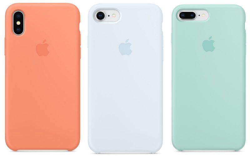 Uudet suojakuorivärit iPhoneille. Samat värit ovat tarjolla myös urheilurannekkeina Apple Watchille.