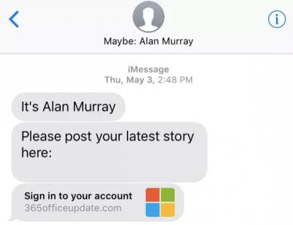 Applen iOS-käyttöjärjestelmä ehdottaa viestin lähettäjälle nimeä aiempien sähköpostien ja tekstiviestin tietojen perusteella.