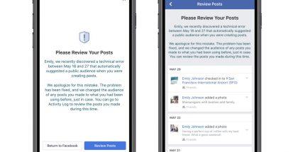 Facebook kertoo ongelmasta sen kokeneille käyttäjille ilmoituksella.