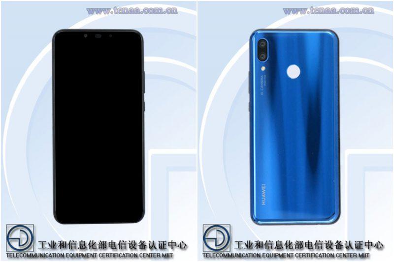 Huawei PAR-AL00 eli tuleva Nova 3 kiinalaisen TENAA-viranomaisen tietokannan kuvissa.