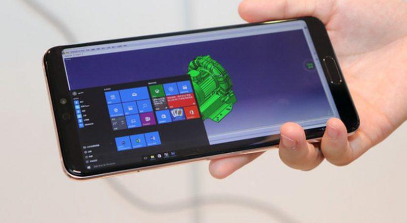 Windows 10 pilven kautta Huawei-älypuhelimessa.