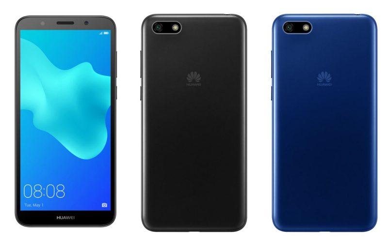 Huawei Y5 2018:n värivaihtoehdot Suomessa ovat musta ja sininen.