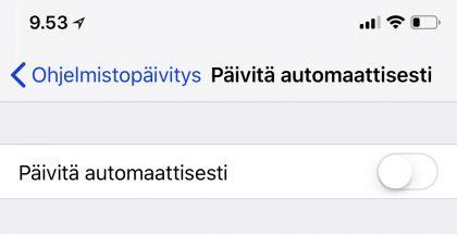 iOS 12:n asetusvalikkoon Ohjelmistopäivityksen alle on ilmestynyt aivan uusi valinta.