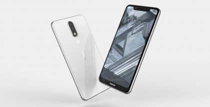 Nokia 5.1 Plussan design OnLeaksin vuotamassa 3D-mallikuvassa. Puhelin julkistettaneen ensin Kiinassa Nokia X5 -mallinimellä.