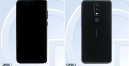 Nokia TA-1109 eli 5.1 Plus tai X5 -älypuhelin TENAAn kuvissa.