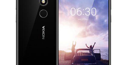 Nokia X6 / Nokia 6.1 Plus on varustettu 5,84 tuuman näytöllä, jossa on lovi yläreunassa etukameralle ja muille komponenteille.