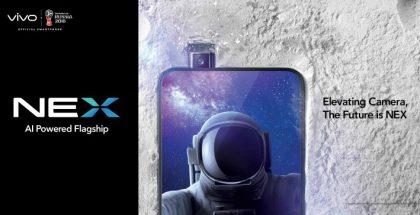 Vivo NEX -puhelimet ovat varustettu esiin nousevalla periskooppietukameralla.