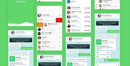 Tältä uusi WhatsAppin UWP-pohjainen sovellus voisi näyttää konseptikuvien mukaan pienillä näytöillä.