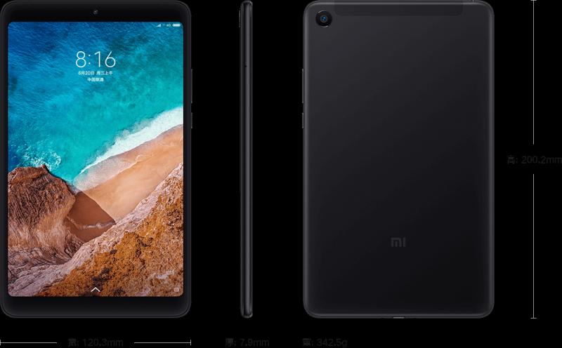 Xiaomi Mi Pad 4 mustana.
