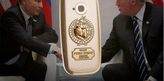 Titaani-kultainen Nokia 3310 juhlistaa Trumpin ja Putinin tapaamista – katso kuvat