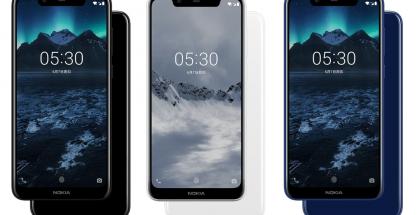 Nokia X5 eri väreissä.