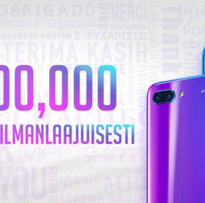 Honor 10 -älypuhelinta myyty jo 3 miljoonaa kappaletta
