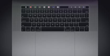 Nykyinen MacBook Pron näppäimistö.