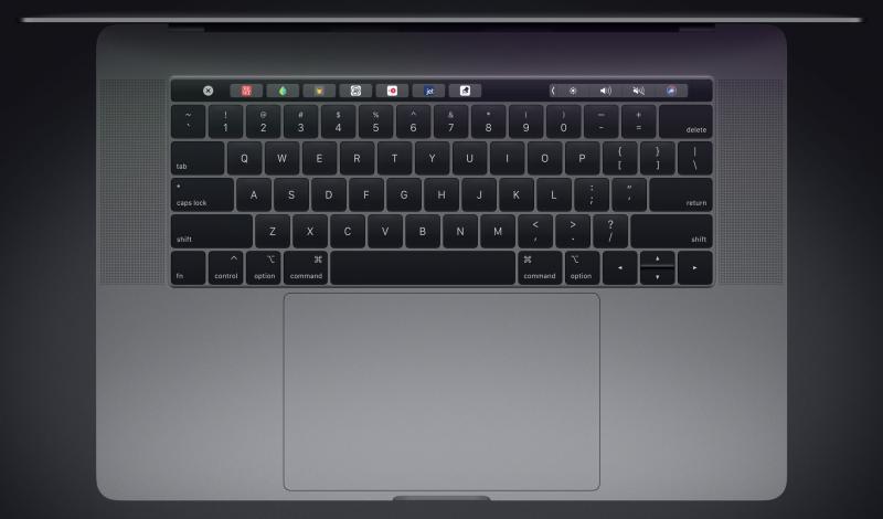 MacBook Pron näppäimistö.