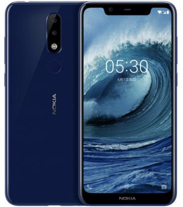Nokia X5 sinisenä värivaihtoehtona aiemmin vuotaneessa kuvassa.