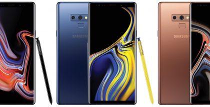 Samsung Galaxy Note9:n värivaihtoehtoja Evan Blassin julkaisemana.