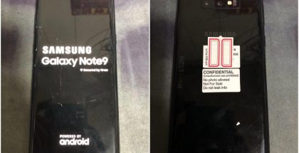 Samsung Galaxy Note9 uusissa vuotaneissa live-kuvissa.